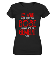Es war boese gemeint - ladies-Ladies V-Neck Shirt - Baufun Shop