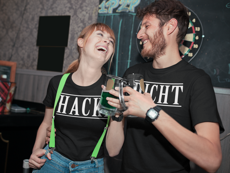 Hacke - Lustiges Partner Shirt - Baufun Shop