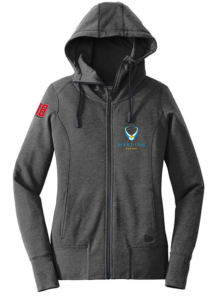 Ladies New Era Tri-blend Hooded Full-zip