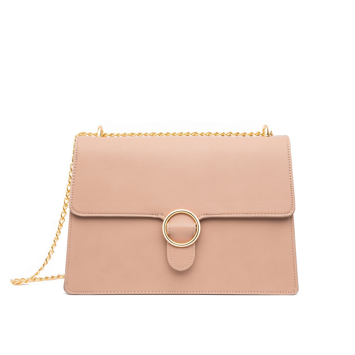 Mara Shoulder Bag (Desert Taupe/Yellow Gold)