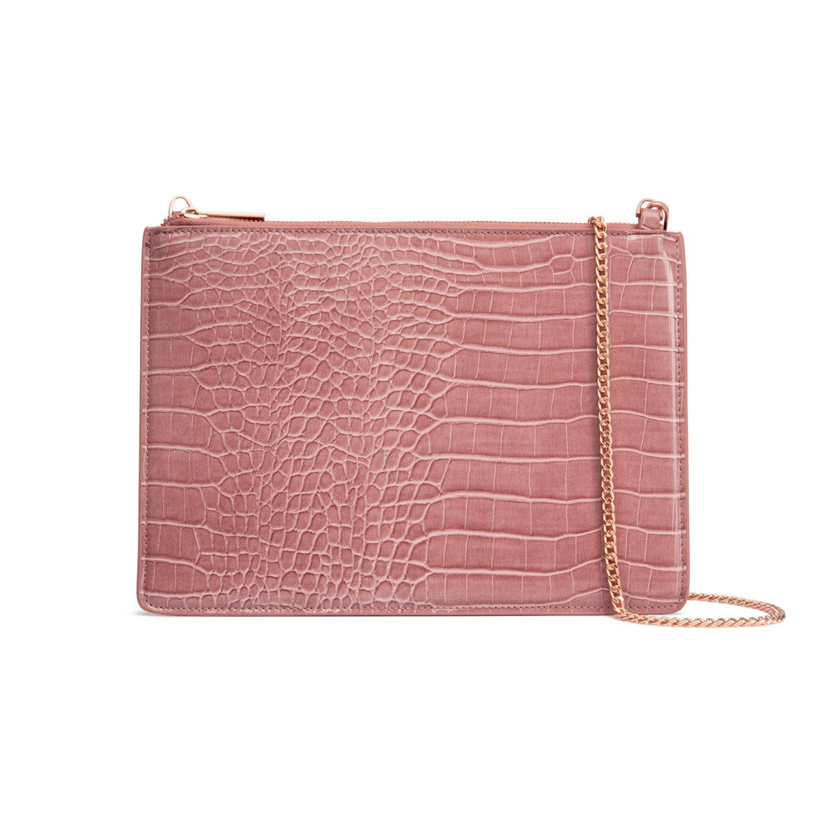 Naomi Clutch Bag (Dusky Rose/Rose Gold)