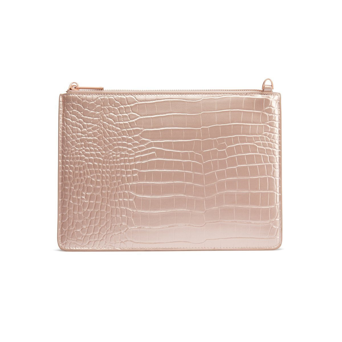 Naomi Clutch Bag (Shimmer Blush/Rose Gold)