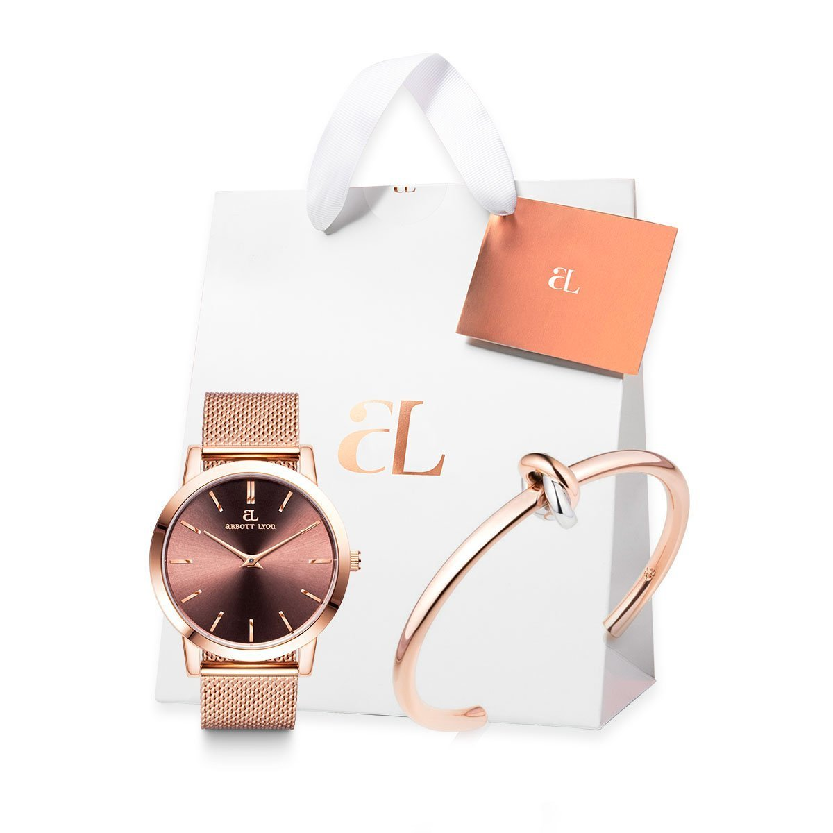 The Rose Gold Chain Luxe 40 knot Gift Set (Rose/Rose)