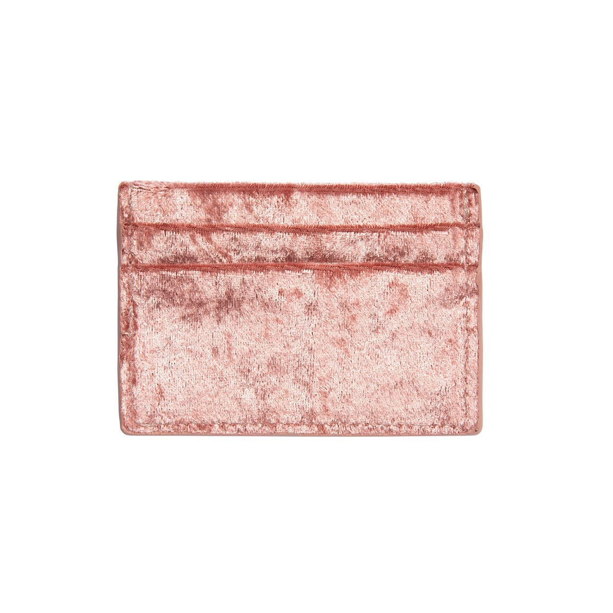 Clea Velvet Card Holder (Pink)