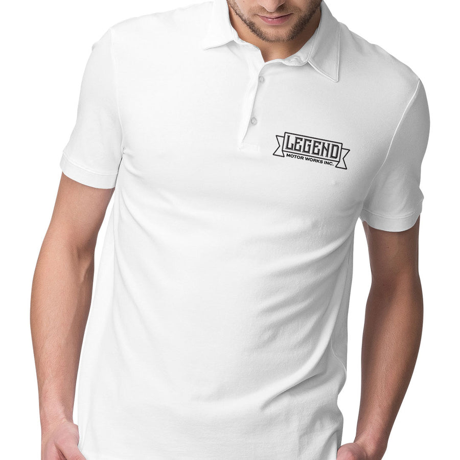 Legend Motor Works Logo Mens Polo Shirt