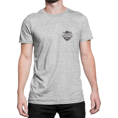 Legend Motor Works Wolf Logo Mens Crew Neck T-Shirt