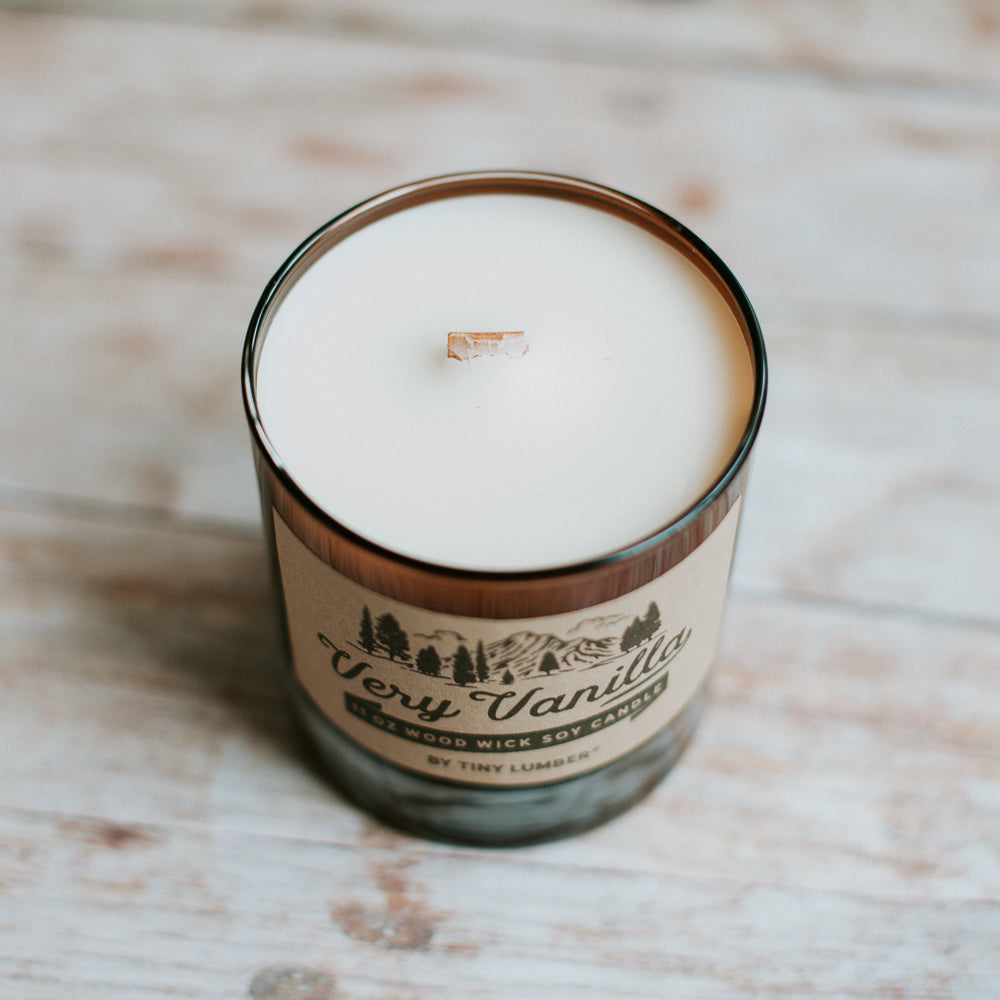 Very Vanilla 11 oz Wood Wick Candle
