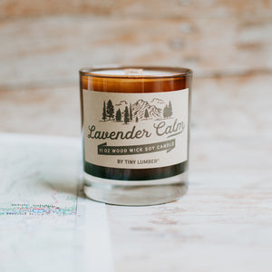 Lavender Calm 11 oz Wood Wick Candle