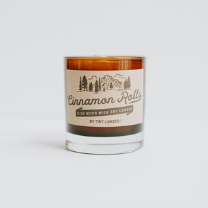 Cinnamon Rolls 11 oz Wood Wick Candle