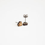 Diamond Shaped Wooden Earring Studs