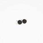 Black Round Wooden Earrings