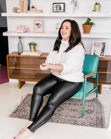 Faux Leather Shaping Leggings // Yummie