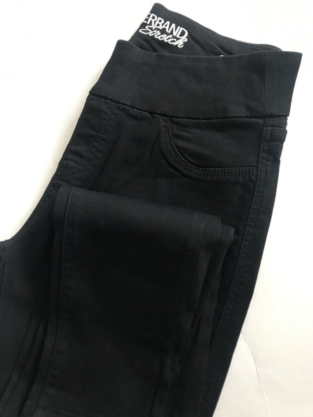 Penelope Pull On Skinny Jeans (Black)