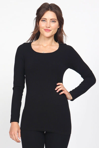 Long Sleeve Seamless Knit Top