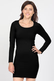 Long Sleeve Seamless Scoop Neck Dress