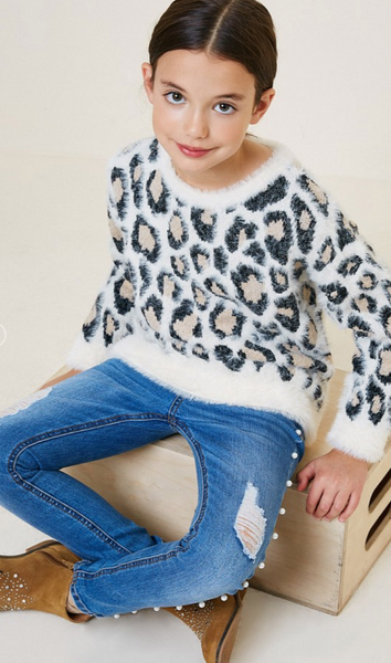 Leopard Pullover Sweater // Kids