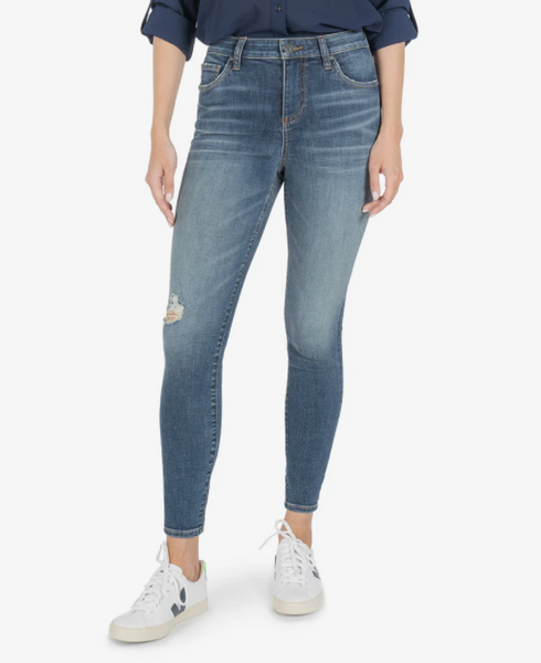 Donna High Rise Ankle Skinny // Instant Wash