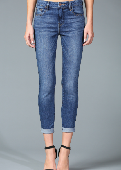 Mid-Rise Ankle Skinny