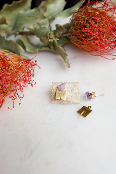 In the Mountains Earring // Amethyst