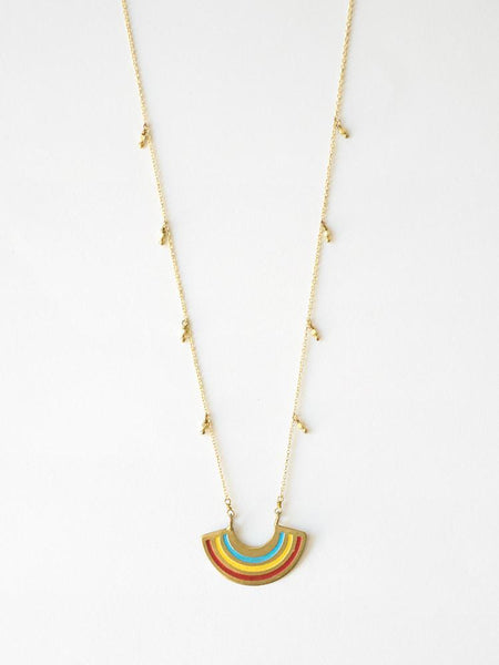 Petite Rainbow Multicolor Necklace