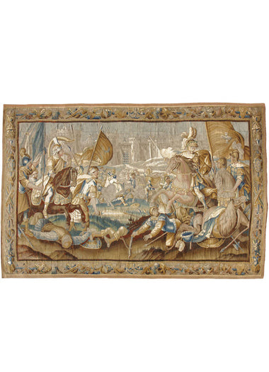 "A 17th Century Flemish Tapestry Titled ""Battle in Jerusalem"""