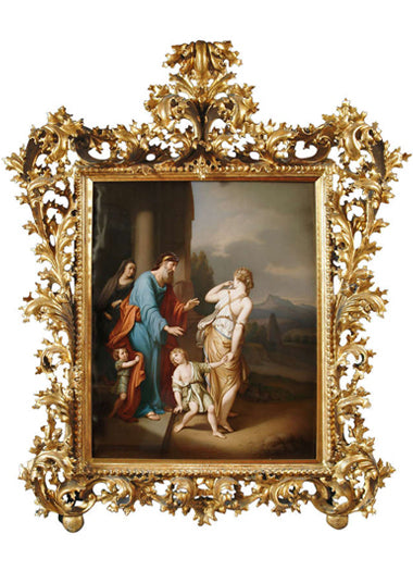 A Large Finely Painted K.P.M Porcelain Plaque of Hagar & Ishmael