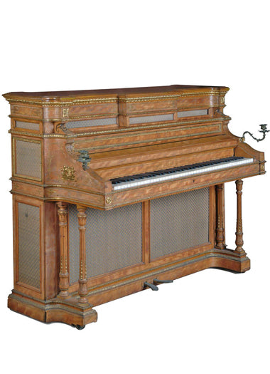 A French Gilt Bronze Mounted Upright Piano by Pierre Errard