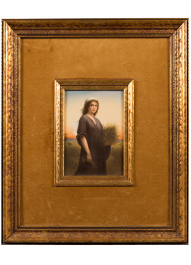 "KPM Porcelain Plaque ""Ruth"""