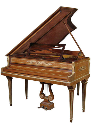 A French Ormolu Mounted & Parquetry Baby Grand Piano
