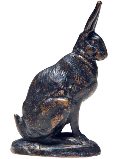 A Bronze Model of a Rabbit by Antoine-Louis Barye, Barbedienne Foundry
