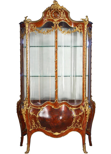 A large Bronze Mounted Vernis Martin Vitrine by Francois Linke