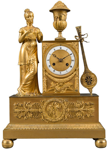 A French Empire period ormolu mantel clock