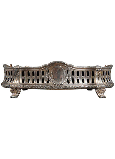 A French Antique Silvered Bronze Centerpiece with Galeria Artistica Peru 154 VS Hallmarked