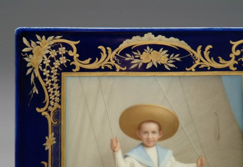 A Finely Painted 19th Century German Meissen Plaque