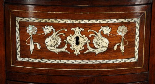 An Italian Baroque Ebonized Rosewood Desk