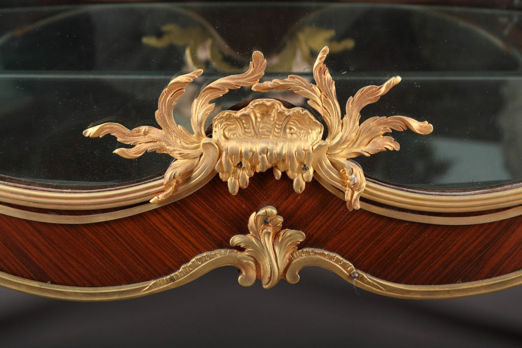 A French Ormolu Mounted Tulip-Wood Vitrine by Francois Linke