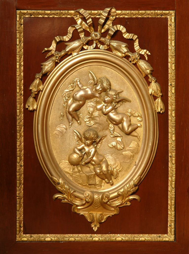 A French Ormolu Mounted King Wood Vitrine by Charles Guillaume Diehl