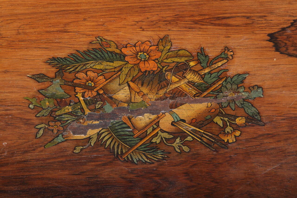 A Fine Marquetry Bells in Sight Cylinder Swiss Music Box. Playing over 12 songs