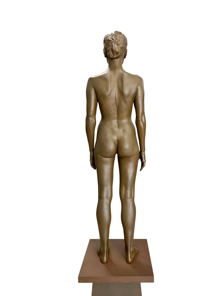 Robert Graham Bronze Figure on Pedestal, Kim