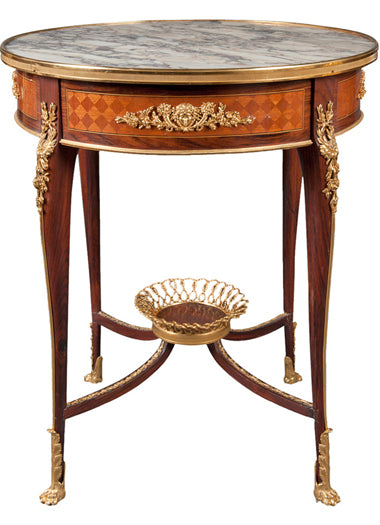 A Gilt-Bronze Mounted Marble Top Center Table by Francois Linke