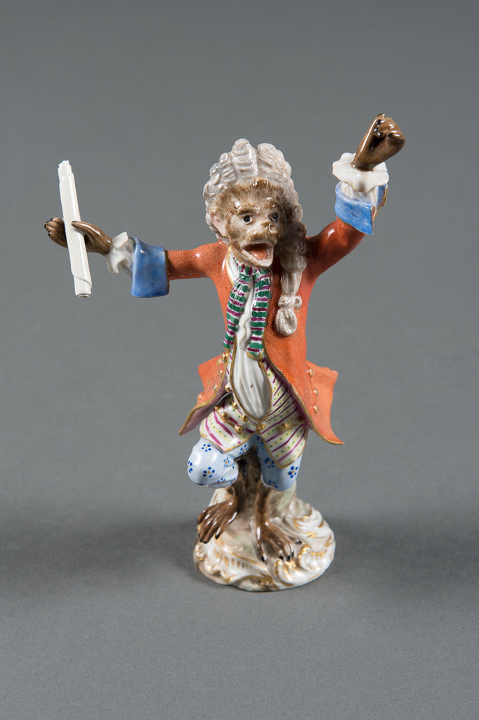 A 19th Century German Meissen Porcelain Figure of the Band Conductor