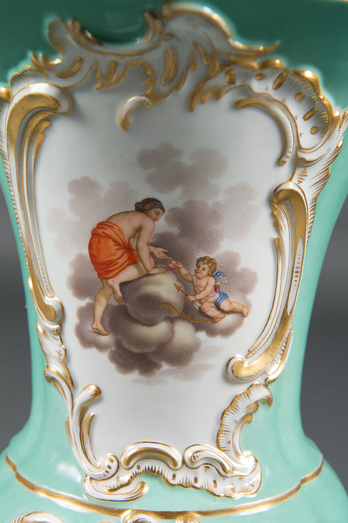 A Fine Pair of 19th Century German Meissen Porcelain Vases