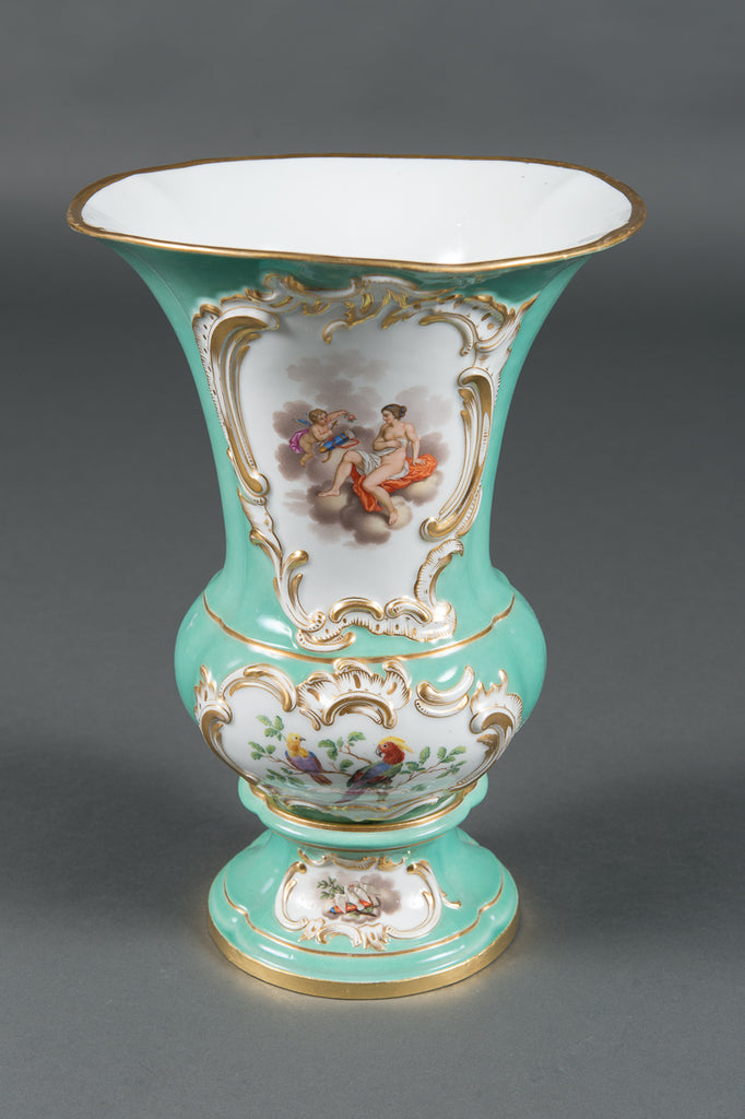 A Pair of German Meissen Porcelain Vases