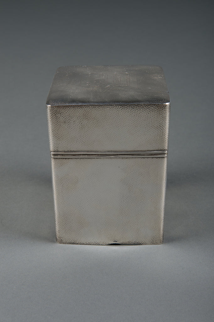 An American Made Sterling Silver 950 Hammered Cigar Humidor Box