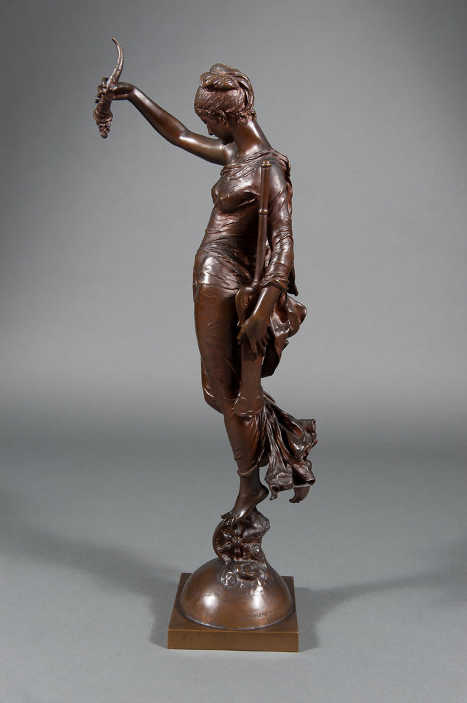 French Bronze figure 'La Fortune' by Moreau-Vauthier