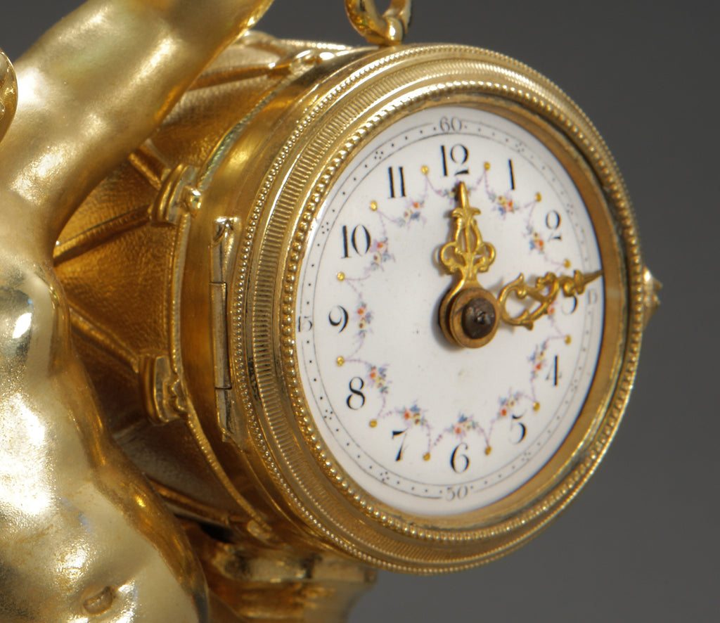 A French Louis XVI Style Ormolu Bronze Clock Garniture