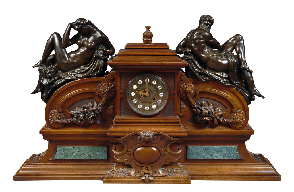 Large 19th Century 'Day and Night' clock by Victor Paillard