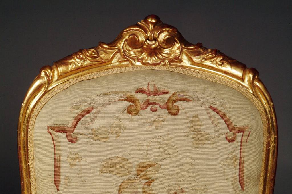 Very fine 19th Century French Napoleon III Gilt-Wood Aubusson Tapestry 7-piece salon suite