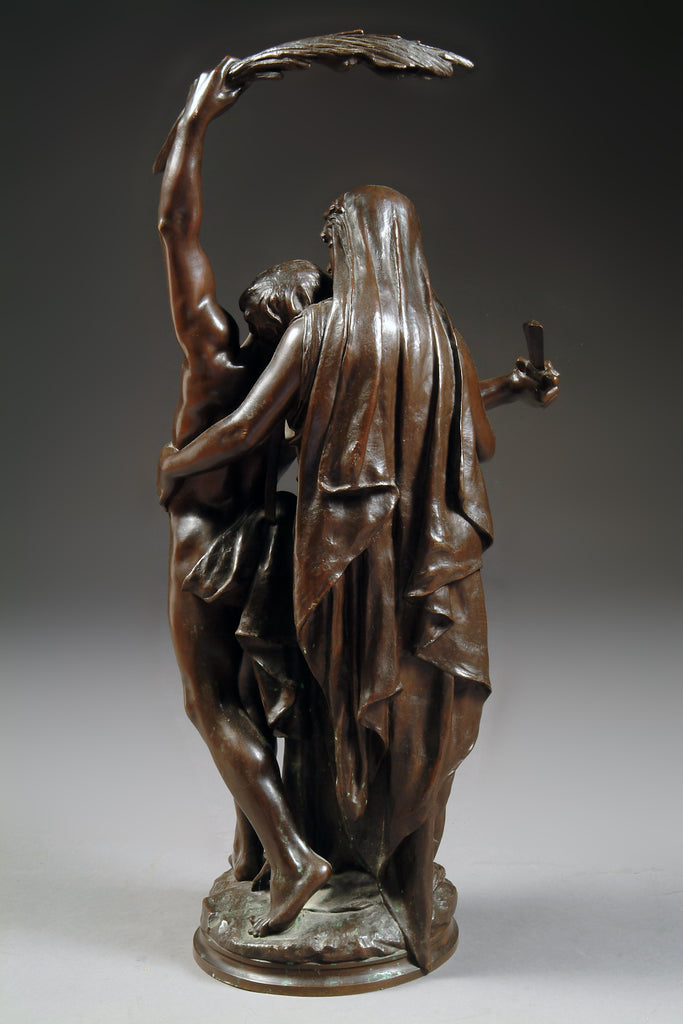 A 19th Century French Bronze Sculpture  'Gloria Patria'