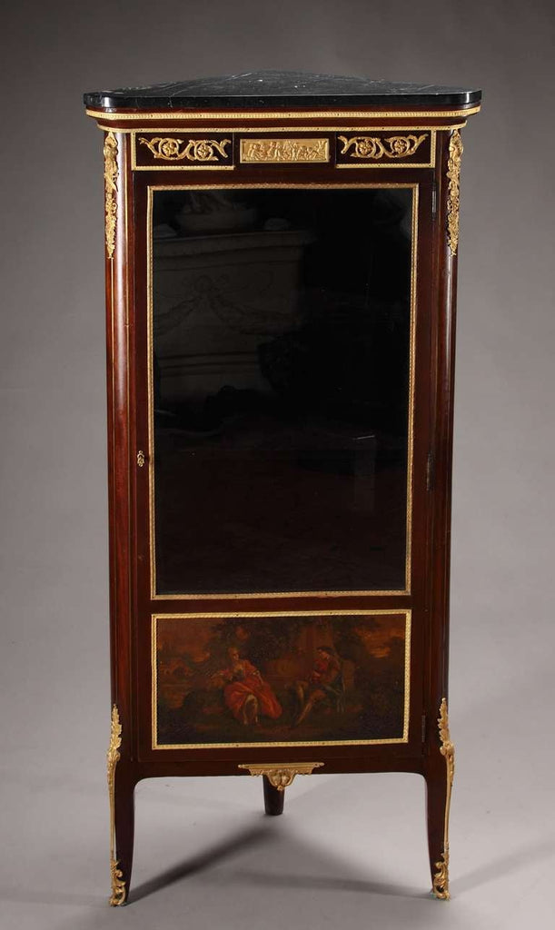 Antique French Ormolu Mounted 'Vernis-Martin' Corner Cabinet